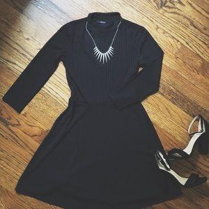 Forever 21 Ribbed Black Dress • Express Necklace